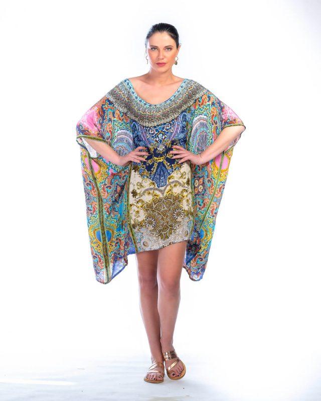 silk kaftan short