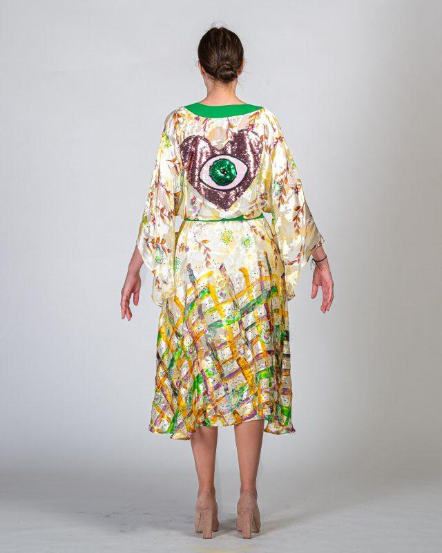 Kimono Silk with Patch